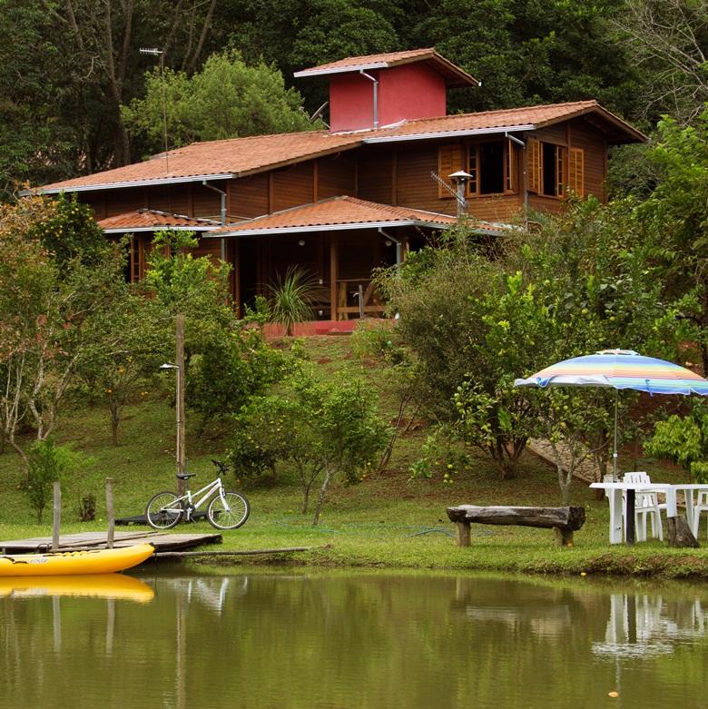 Visão a partir do lago fechada